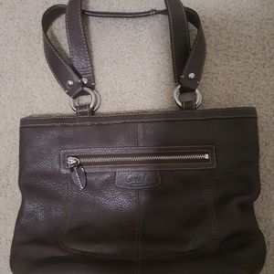 Dark Brown Coach Bag